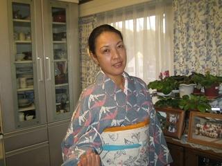 着付け教室。折り鶴の小紋 002.JPG